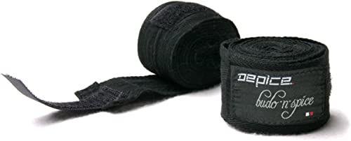 DEPICE Wyposażenie ochronne bandaże bokserskie nieelastyczne, czarne, One Size, Sa-Bbcs