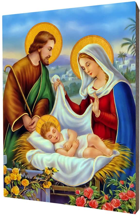 Ikona złocona Święta Rodzina