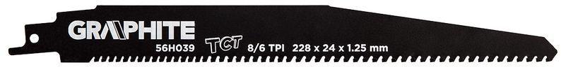 Brzeszczot do piły szablastej HM 228x24x1,25mm 8/6TPI 56H039