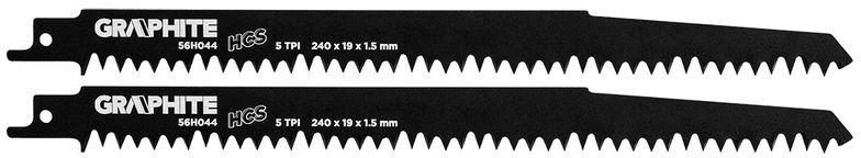 Brzeszczot do piły szablastej HCS 240x19x1,5mm 5TPI kpl. 2szt. 56H044