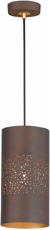 WOFI 6136.01.09.7000 A++ do E, lampa wisząca, metal, 60 W, E27, antyczny brązowy, 15 x 15 x 150 cm