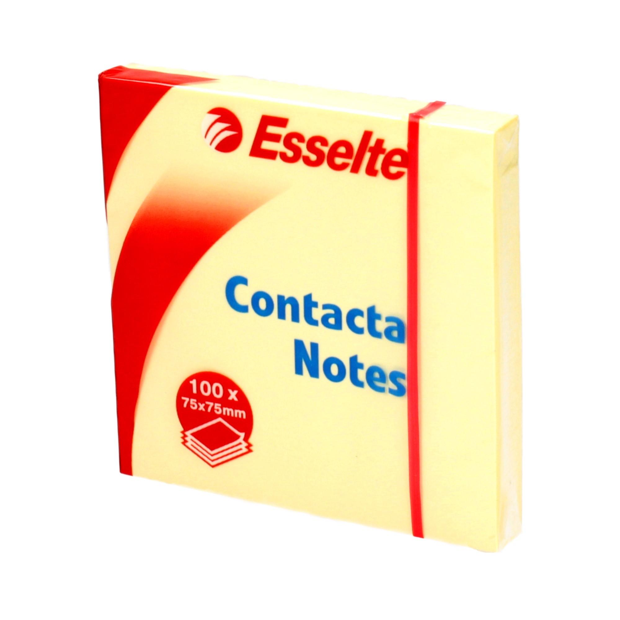 Karteczki samoprzylepne 75x75/100 żółty Contacta