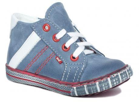 EMEL E 2254 -7 trampki , trzewiki, półbuty niebieski jeans