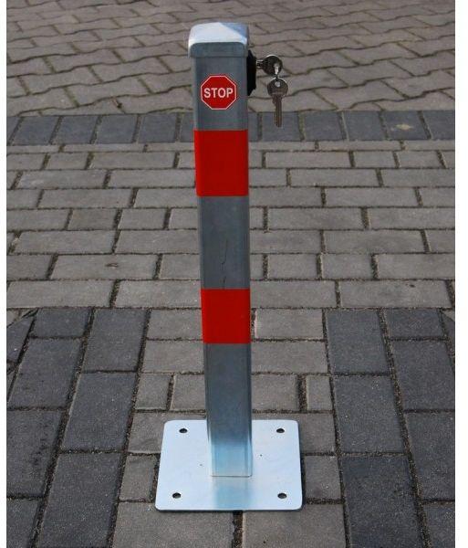 Blokada słupek zapora parkingowa I składana na klucz górny ocynk