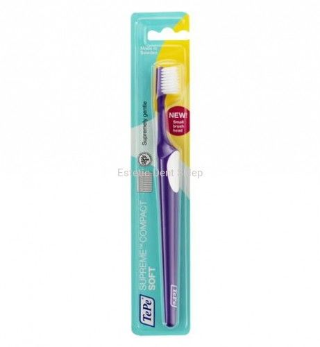 TePe Supreme Compact soft - miękka szczoteczka z małą główką i podwójnym włosiem