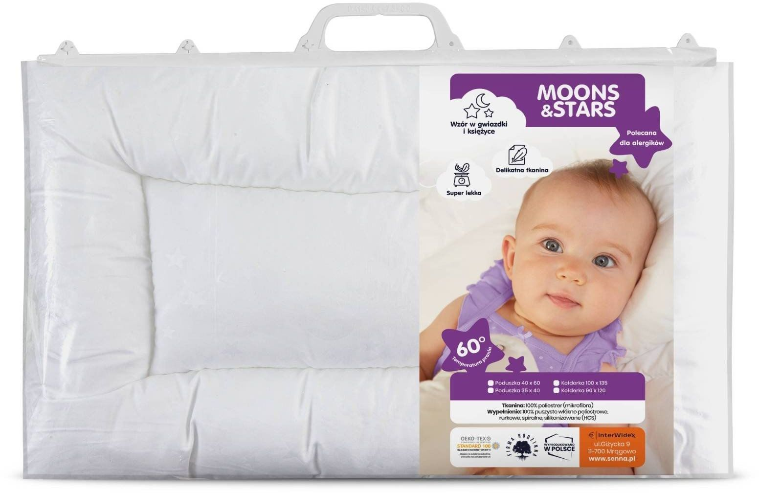 Poduszka MOONS & STARS Dziecięca Baby Senna 40x60