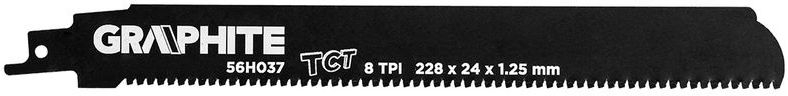 Brzeszczot do piły szablastej HM 228x24x1,25mm 8TPI 56H037
