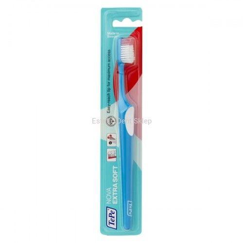 TePe NOVA extra soft - ultra miękka szczoteczka do zębów ze specjalnym uchwytem na palec