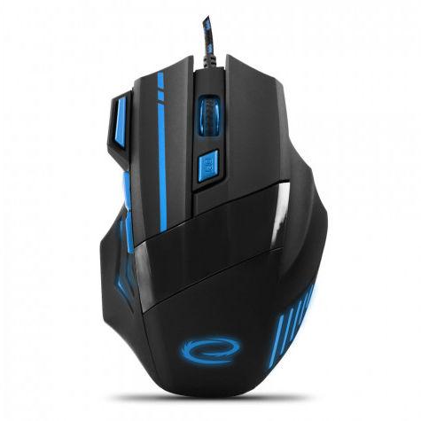 EGM201B Mysz przewodowa dla graczy 7D optyczna USB MX201 Wolf niebieska