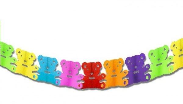 Girlanda bibułowa kolorowe Misie 3m 1szt GR6