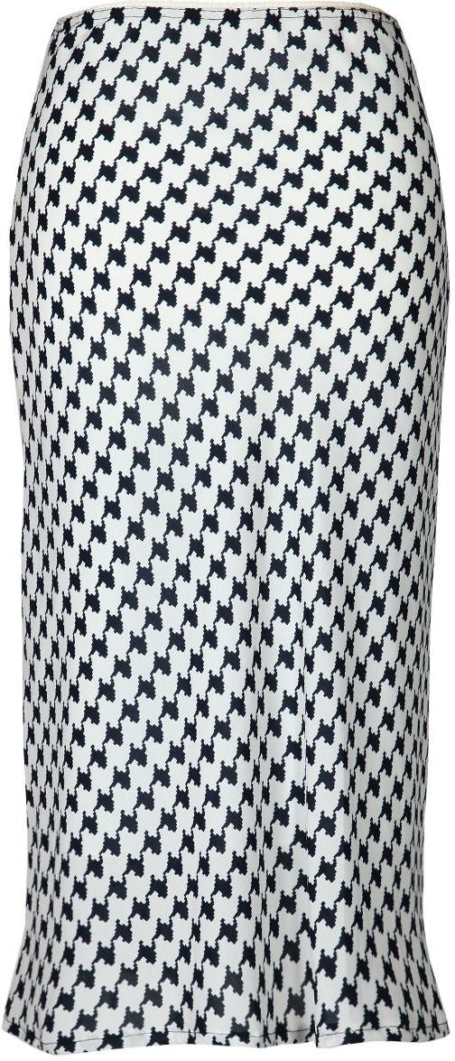 Spódnica FSP771 BIAŁY + GRANATOWY zygzag - Spódnica FSP771 BIAŁY + GRANATOWY zygzag