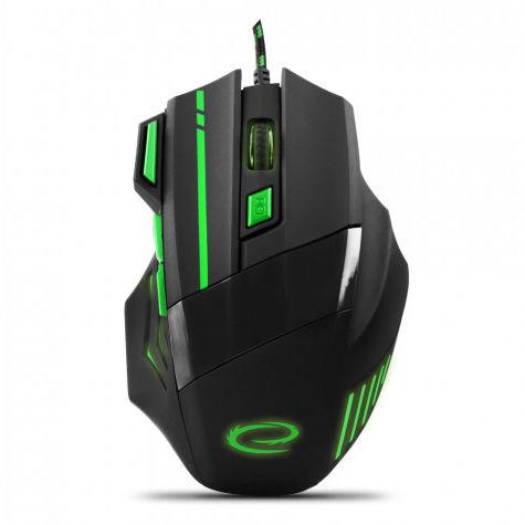 EGM201G Mysz przewodowa dla graczy 7D optyczna USB MX201 Wolf zielona