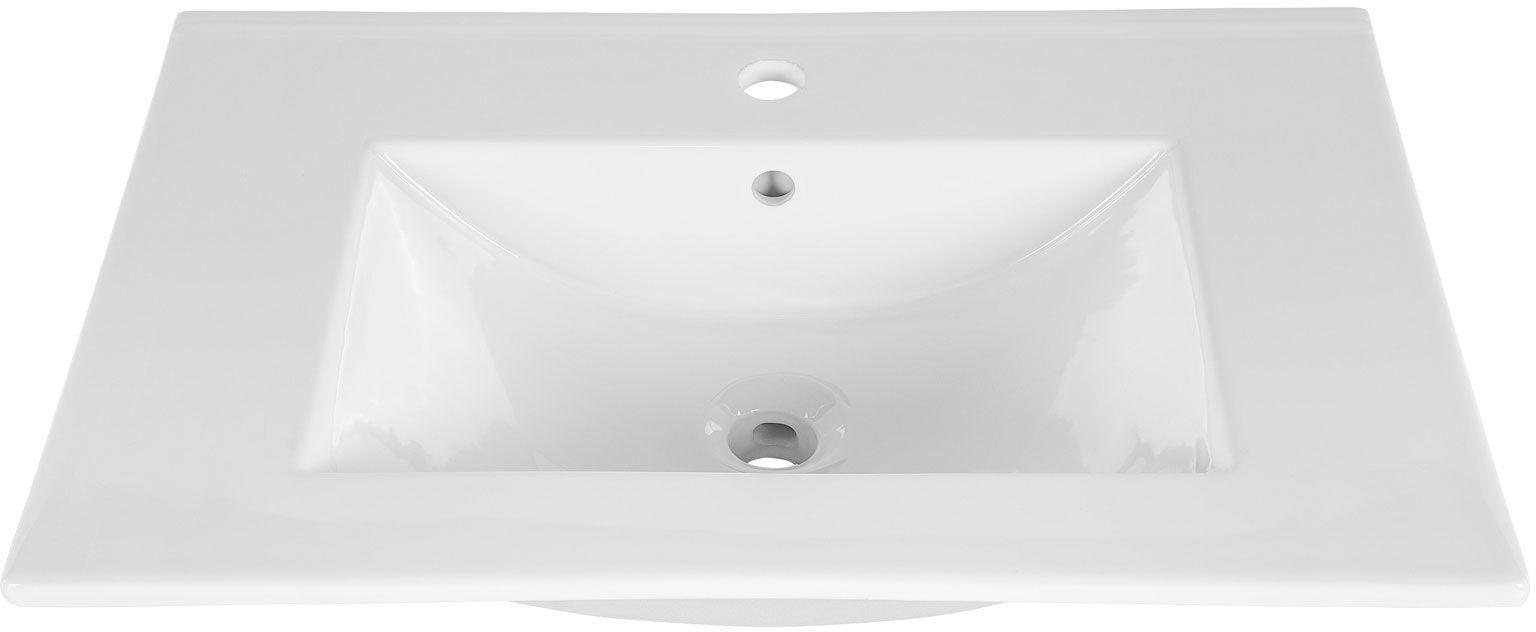 Ceramiczna umywalka meblowa Rutica 60 cm - Biała