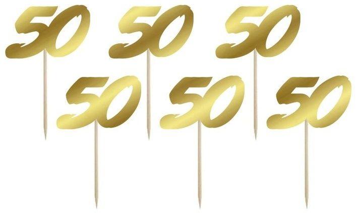 Karteczki na piku pikery na 50 urodziny 6szt DTU50-0-019