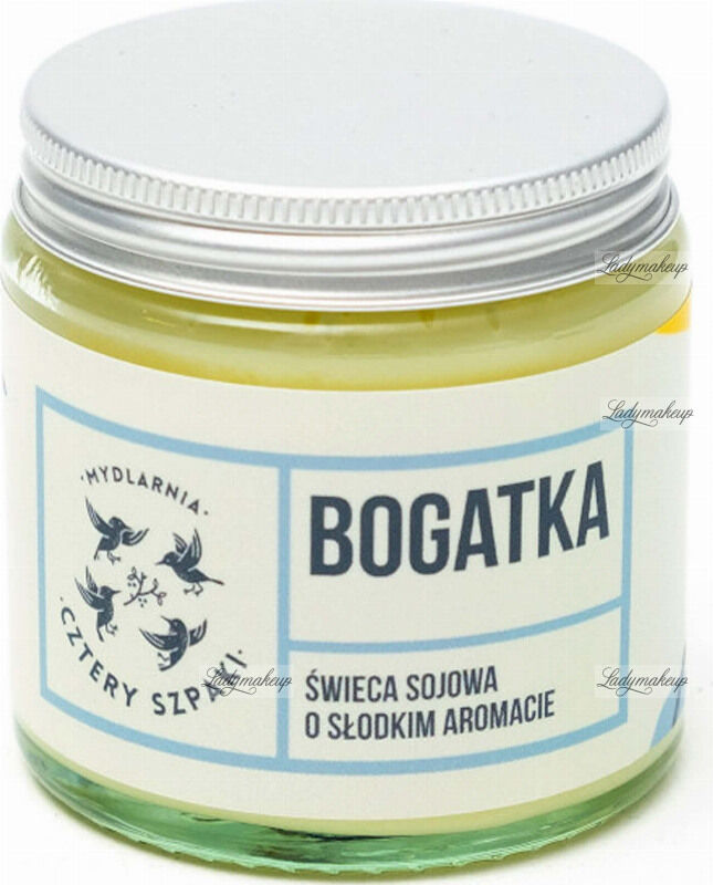 Mydlarnia Cztery Szpaki - Świeca sojowa o słodkim aromacie - Bogatka