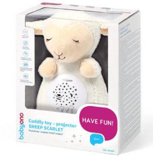 Baby ono 596 przytulanka - projektor sheep scarlet