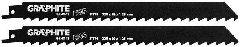 Brzeszczot do piły szablastej HCS 225x19x1,25mm 3TPI kpl. 2szt. 56H043