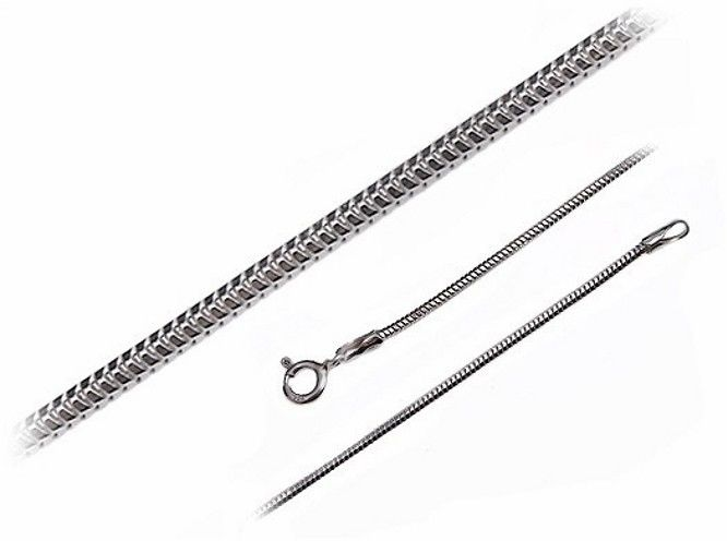 Gruby srebrny łańcuszek żmijka linka snake 45 cm srebro 925 ML242