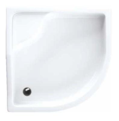 Schedpol Bona brodzik akrylowy 90x90cm R55 półokrągły biały 3.239