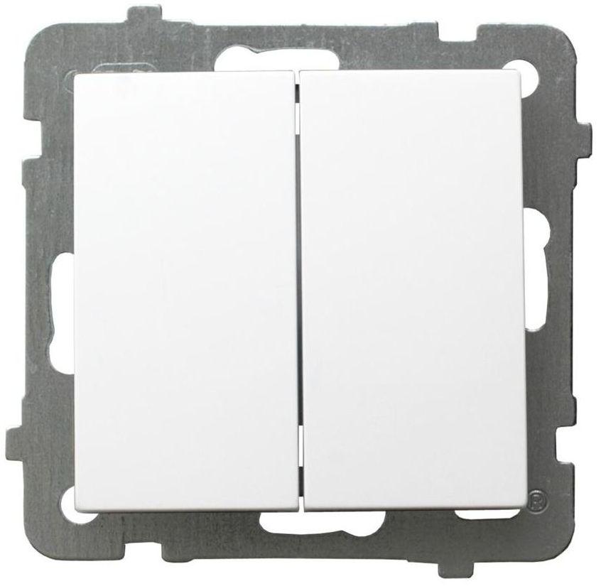 Włącznik podwójny PODWÓJNY AS biały OSPEL