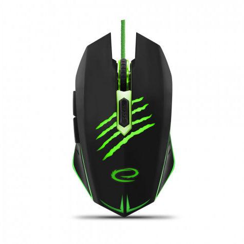 EGM209G Mysz przewodowa dla graczy 6D optyczna USB MX209 Claw zielona