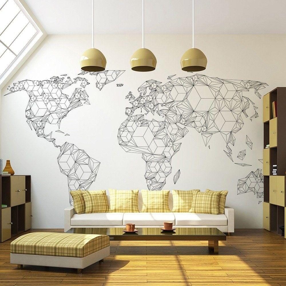 Fototapeta - map of the world - white solids