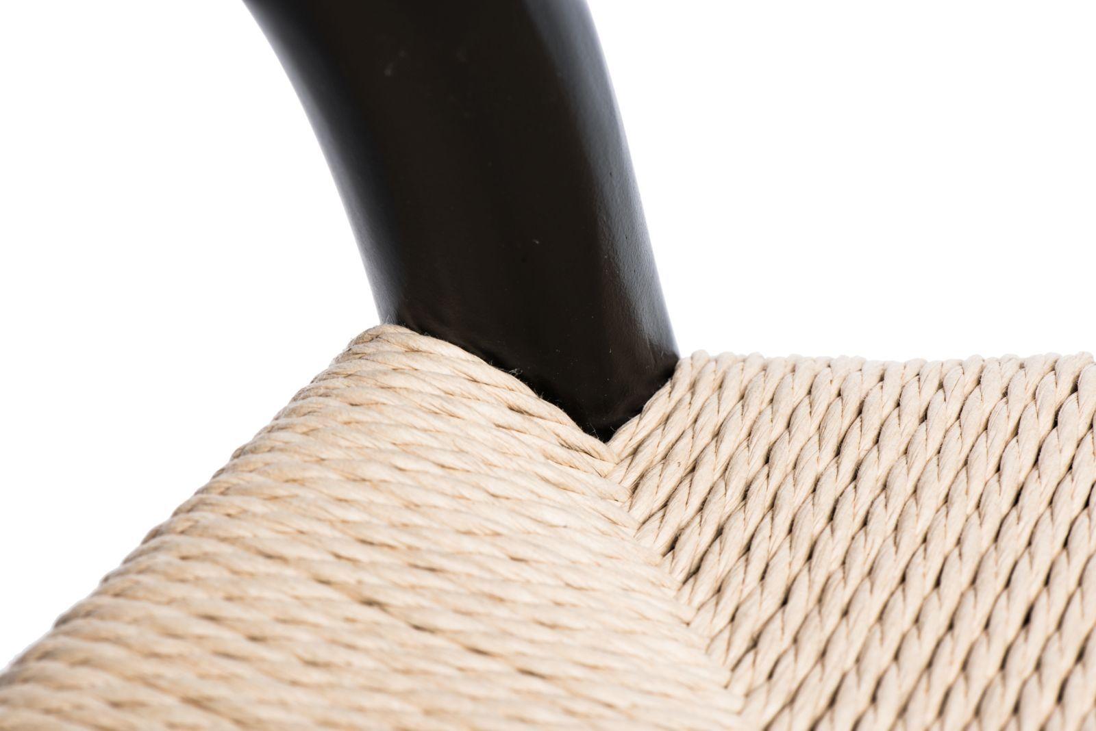 D2 Krzesło Wicker czarne