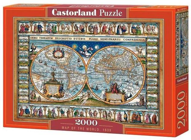 Puzzle 2000 Mapa Świata CASTOR - Castorland