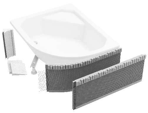 Schedpol zabudowa obudowa styropianowa elastyczna do brodzików 2.040
