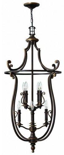 Lampa wisząca Plymouth HK/PLYMOUTH8/P Hinkley klasyczna oprawa w dekoracyjnym stylu