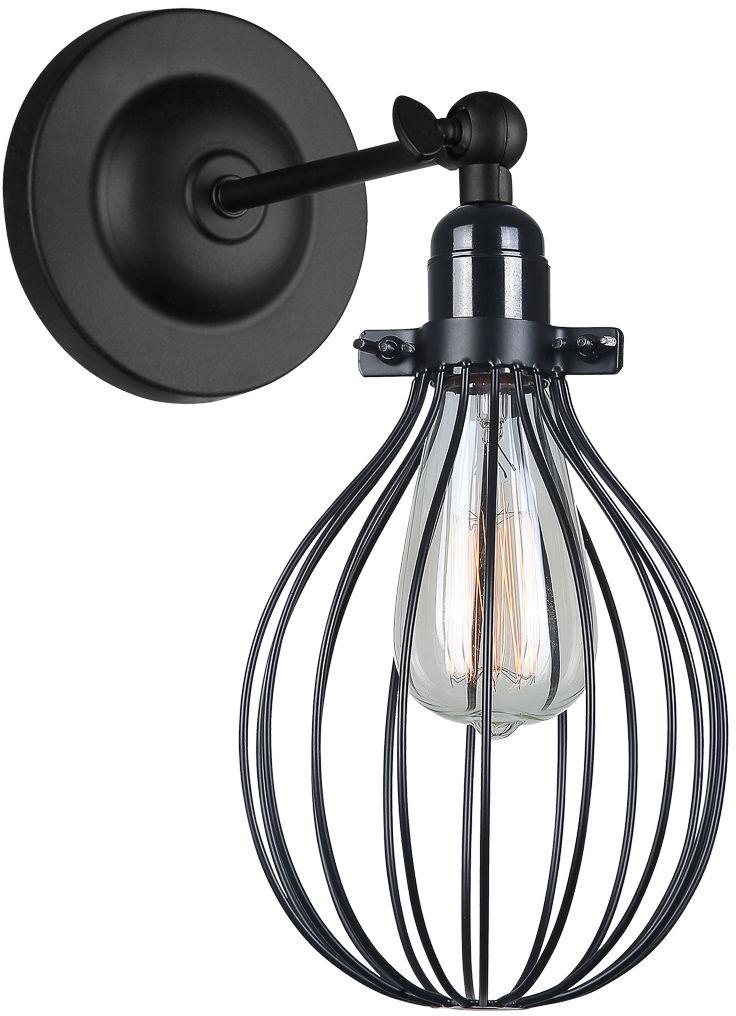 Italux kinkiet lampa ścienna Lesto MBM-2676/1 BK czarna druciana
