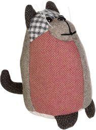 Premier Housewares Heritage duży brązowy kot stoper do drzwi, wypełnienie wazonem z włókna kanalikowego, poliester/akryl, 26 x 16 x 25