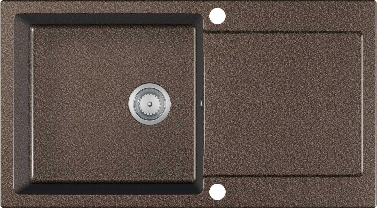 Zlewozmywak Granitowy TIVON brązowy nakrapiany