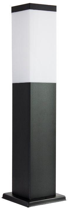 SU-MA Inox Kwadratowa Black SS802-450 BL lampa stojąca czarna E27 45cm