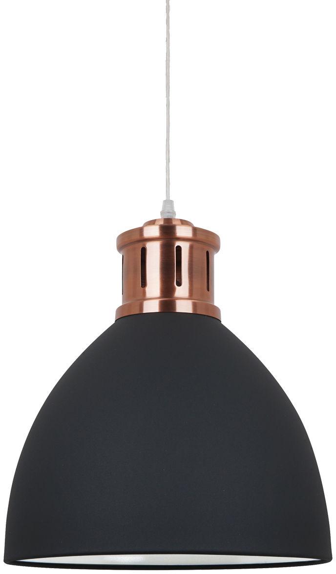 Italux lampa wisząca Lola MD-HN8100-BK+RC grafitowa + miedź 30cm