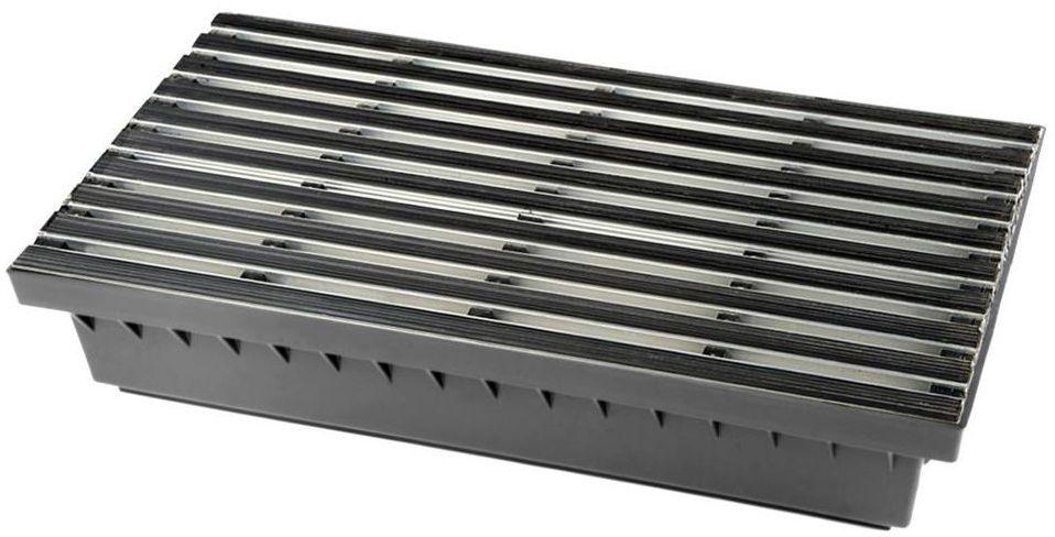 Wycieraczka zewnętrzna gumowo aluminiowa wpuszczana 60x60 cm z podstawą 40 cm