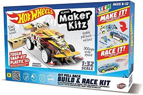 Mondo -51193 Maker Kitz Build and Race Kit Pull Back z wyciągnięciem, kolor Livrea Hot Wheels, 51193