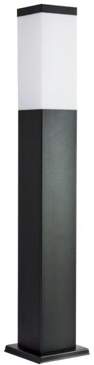 SU-MA Inox Kwadratowa Black SS802-650 BL lampa stojąca czarna E27 IP44