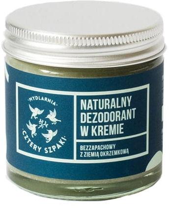 CZTERY SZPAKI Dezodorant W Kremie Bezzapachowy, 60 ml
