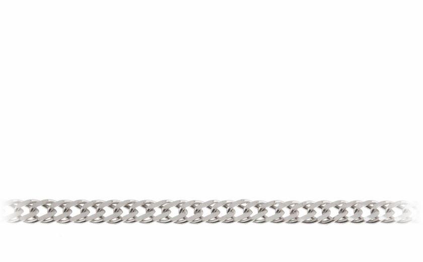Elegancki srebrny łańcuch pancerka rombo 55cm srebro 925 ROMBO_050