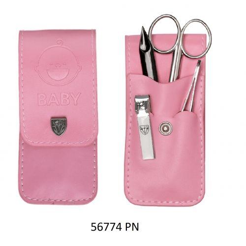 Różowy zestaw do obcinania dziecięcych paznokci - 56774 P N