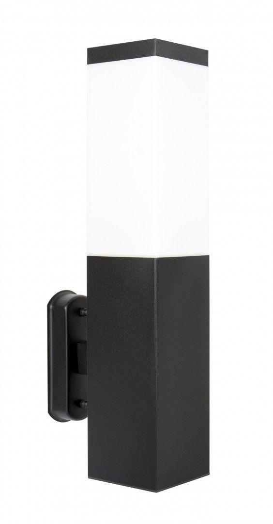 SU-MA Inox kwadratowa Black SS802-A BL kinkiet czarny IP44