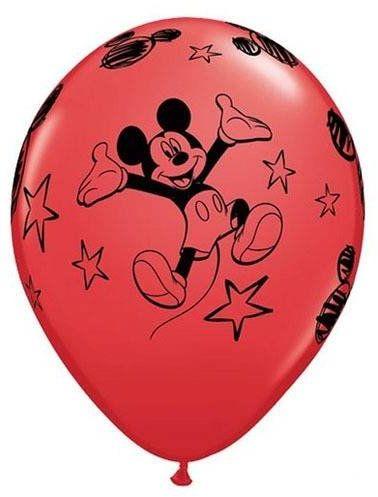 Balony urodzinowe Myszka Mickey - 30 cm - 6 szt