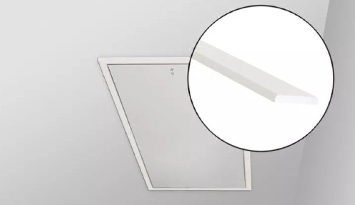 Listwy wykończeniowe LXL Fakro do schodów strychowych - LXL-PVC, biała, 86x144
