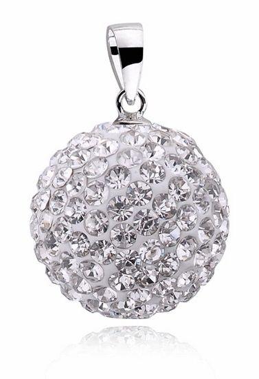 Kulka z kryształkami Swarovski shamballa discoball srebro 925 CRH0001C16