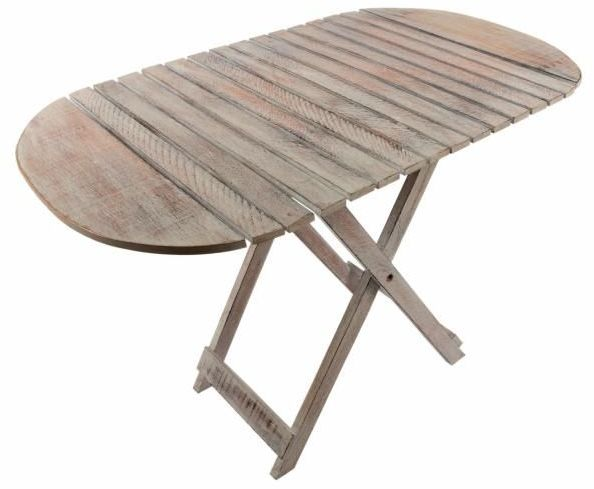 Stół składany DIVERO Vintage - 85cm