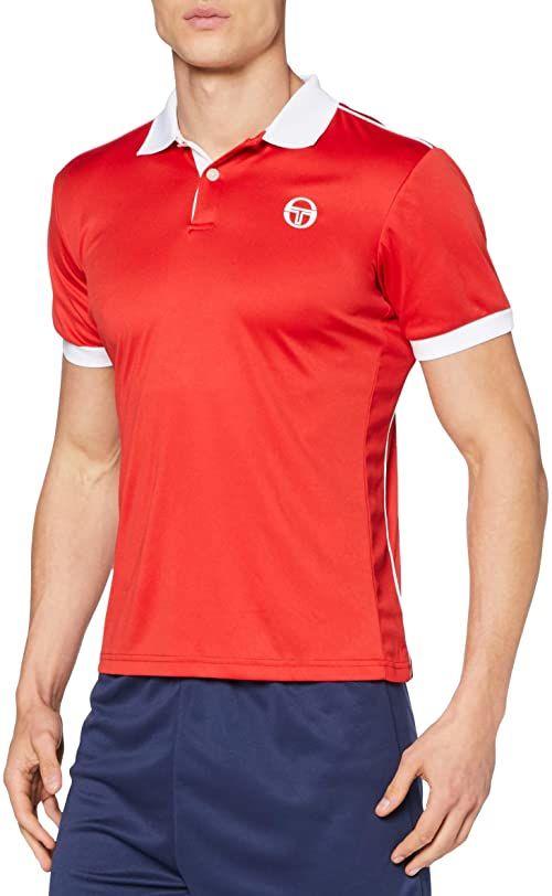 Sergio Tacchini Męska koszulka polo Club Tech Polo czerwony czerwony/biały S