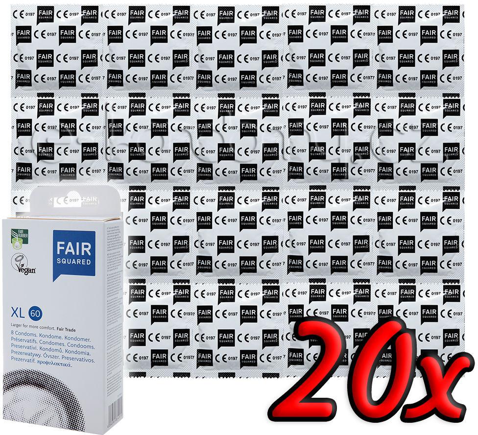 Fair Squared XL 60 - Fair Trade Vegan Condoms 20 pack