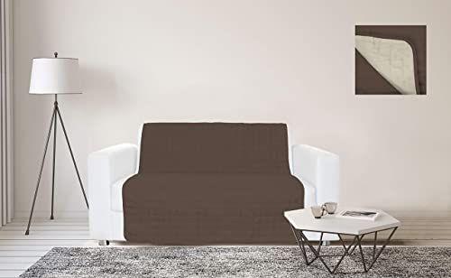 Sogni e Capricci Wodoodporny pasek na sofę, 175 x 190 cm, brązowy/kremowy, 3 miejsca