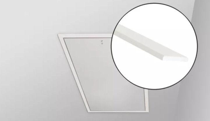 Listwy wykończeniowe LXL Fakro do schodów strychowych - LXL-W drewniana, kolor: biały, 86x144